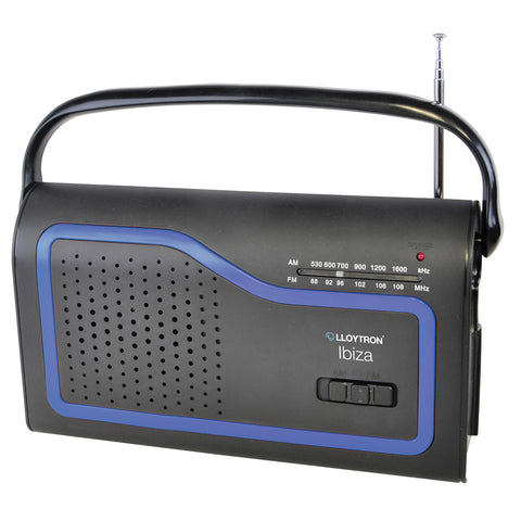 Lloytron Portable Radio | AM/FM Radio | Ibiza - GoShopDirect