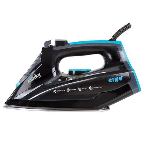 Minky Steam Iron | Ergonomic Design | Mirror Glide Soleplate - GoShopDirect