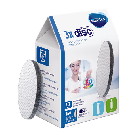 BRITA Replacement Filters | Microdisc Filter Discs | Pack of 3 - GoShopDirect