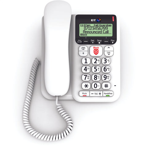 BT Telephone | Advanced Call Blocker | Decor Corded Telephone - GoShopDirect
