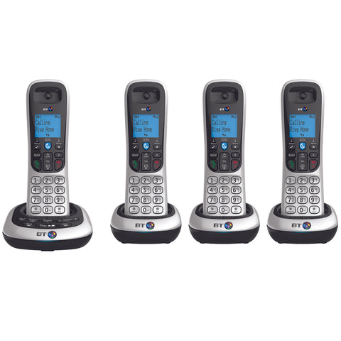 BT Telephone | Nuisance Call Blocker | Digital Answer Machine | Quad Pack - GoShopDirect