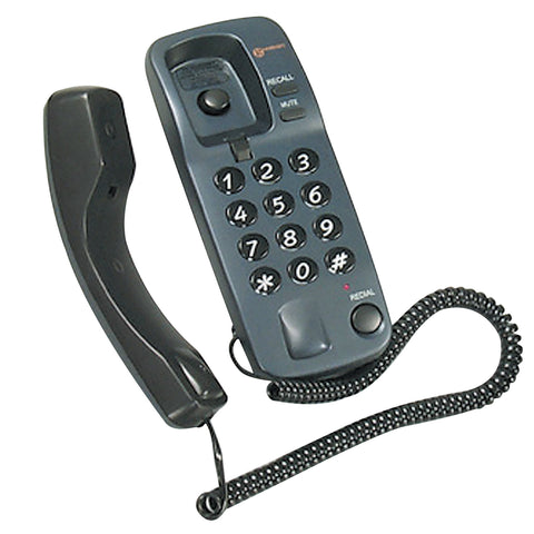 Geemarc Telephone | Gondola Style Corded Telephone | Grey - GoShopDirect
