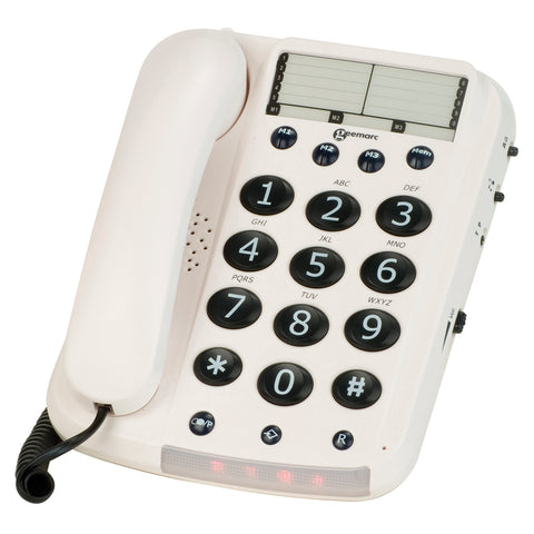 Geemarc Telephone | Big Button Corded Telephone - GoShopDirect