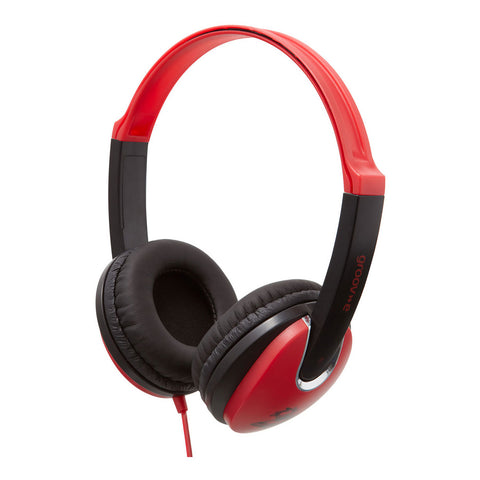 Groove Kids Headphones | DJ Style | Red - GoShopDirect