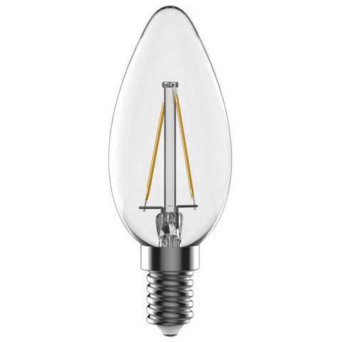 LED Light Bulb | Filament Candle | E14 | 4W | Pack of 3 - GoShopDirect