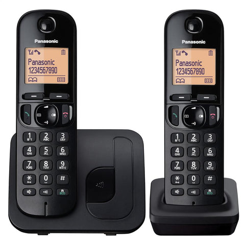 Panasonic Telephone | Cordless | Nusiance Call Block | Twin Pack - GoShopDirect