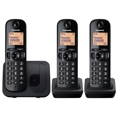 Panasonic Telephone | Cordless | Nusiance Call Block | Trio Pack - GoShopDirect