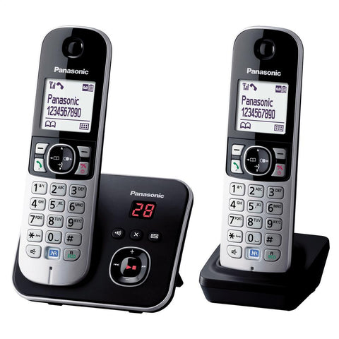 Panasonic Telephone | DECT, Cordless | Answer Machine | Twin Pack - GoShopDirect