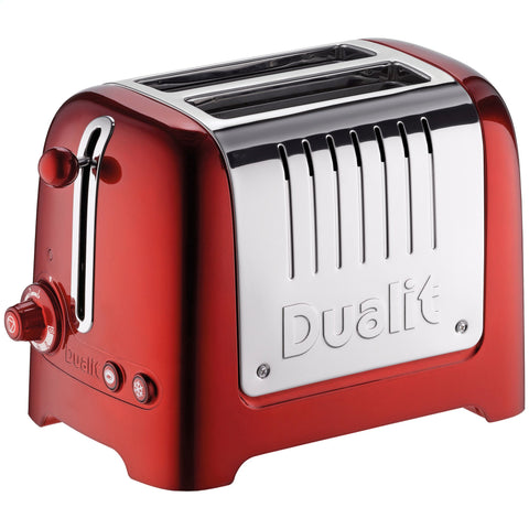Dualit Toaster | 2 Slice Lite Toaster | Red - GoShopDirect