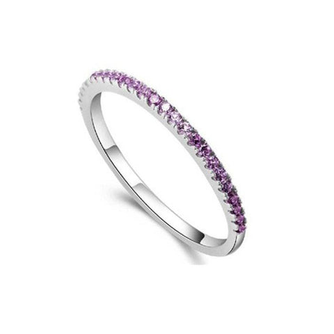 Purple Skinny Ring