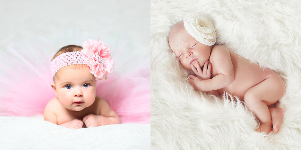 Focus on your beautiful baby by using a plain backdrop