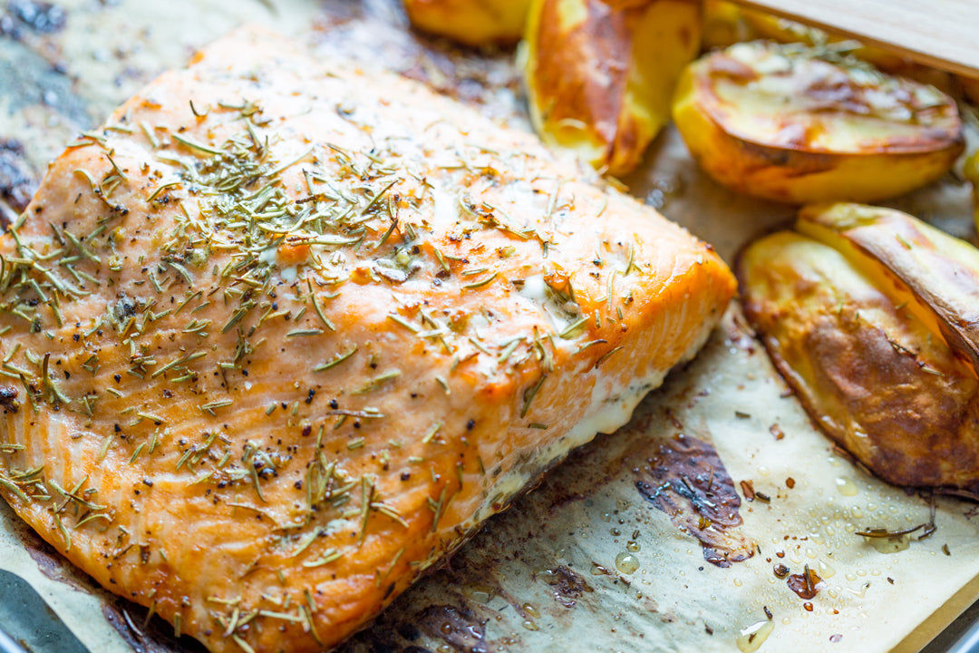 rosemary-rubbed-side-of-salmon-with-roasted-potatoes-parsnips-and-mushrooms