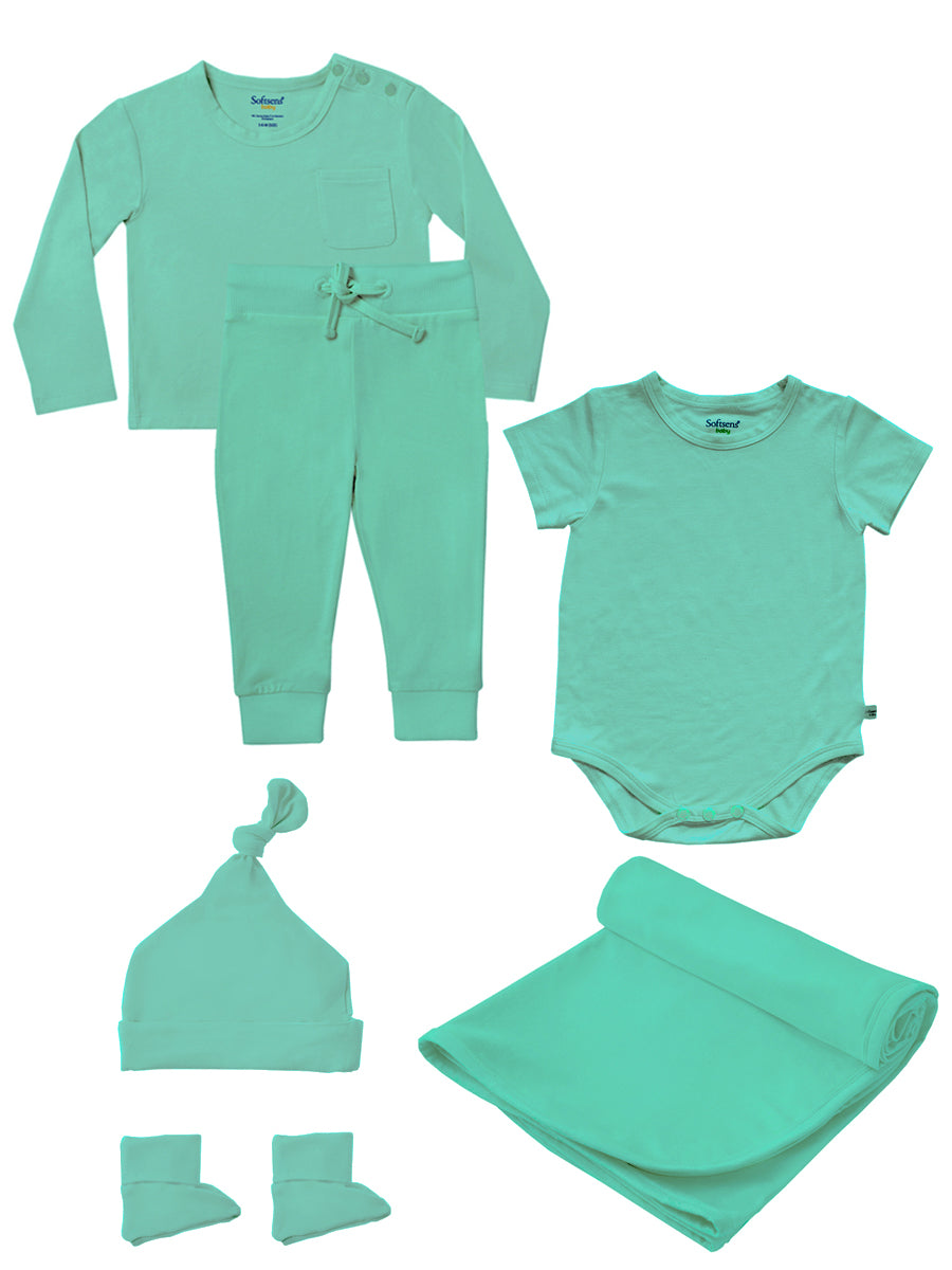 Bamboo Gift Set in Ice Green