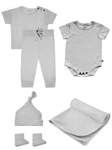 Bamboo Gift Set in Dreamy Grey
