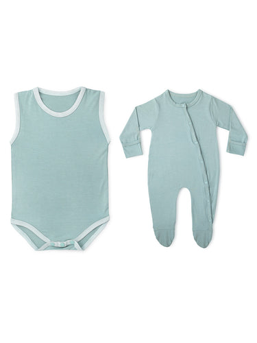 2-Piece Aquifer Teal Soft Bamboo Stretch Wear