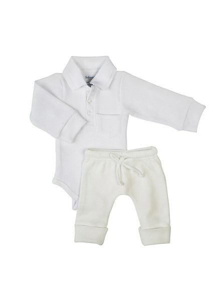 2 Pack Boss Baby Textured Bodysuit & Knit Pants Set-Baby Clothing-Softsens