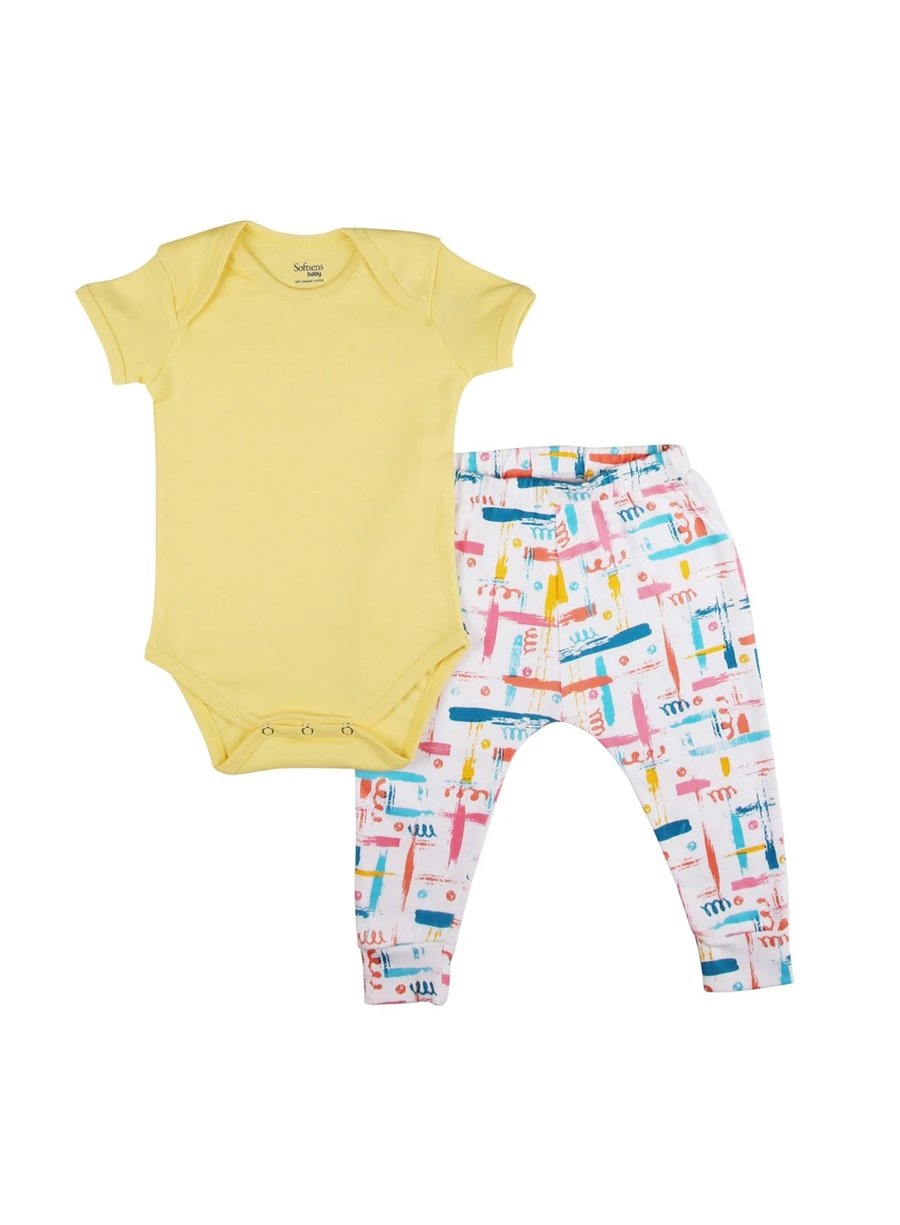 2 Pack Colour Burst Bodysuit & Knit Pants Set-Baby Clothing-Softsens