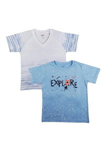 2 Pack Little Adventurers Soft Jersey Tees-Kids Clothing-Softsens
