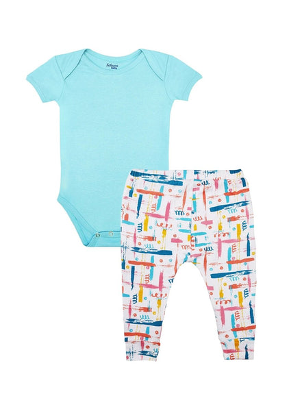 2 Pack Perfect Match Bodysuit & Knit Pants Set-Baby Clothing-Softsens
