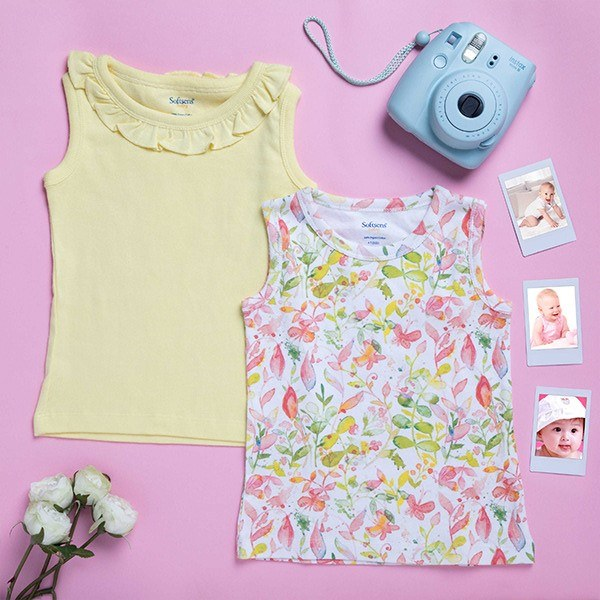 2 Pack Wonder Garden Sleeveless Soft Jersey Tank Tops