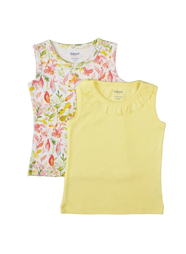 2 Pack Wonder Garden Sleeveless Soft Jersey Tank Tops-Kids Clothing-Softsens