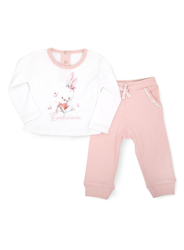 2-Piece Bookworm Long-sleeve Top & Bottom Set-Baby Clothing-Softsens
