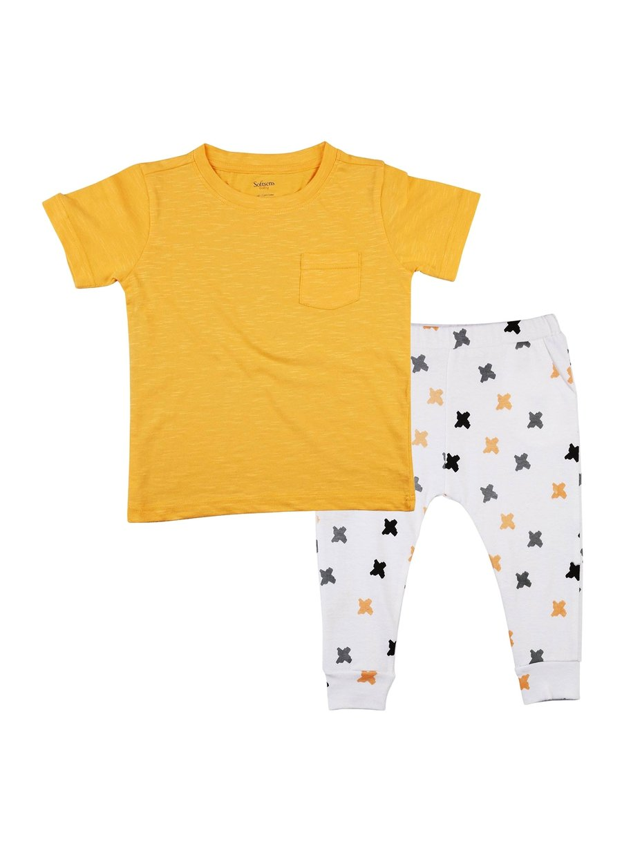 2-Piece Bright Beginnings T-shirt & Knit Pants Set-Kids Clothing-Softsens