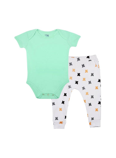 2-Piece Freshly Minted Bodysuit & Knit Pants Set-Baby Clothing-Softsens