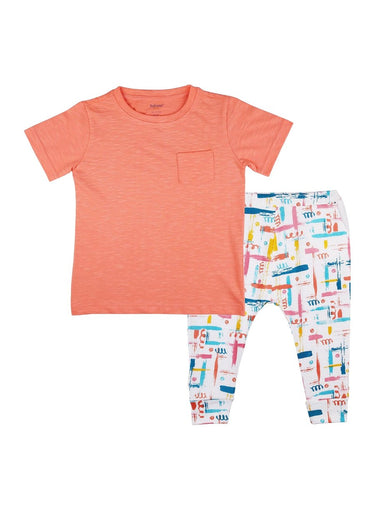 2-Piece Happy Trails T-shirt & Knit Pants Set-Kids Clothing-Softsens
