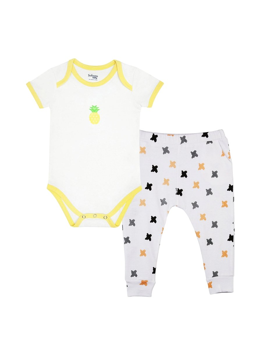 2-Piece Summer Feeling Bodysuit & Knit Pants Set-Baby Clothing-Softsens