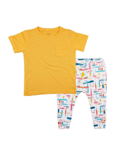 2-Piece Summer Glow T-shirt & Knit Pants Set-Kids Clothing-Softsens
