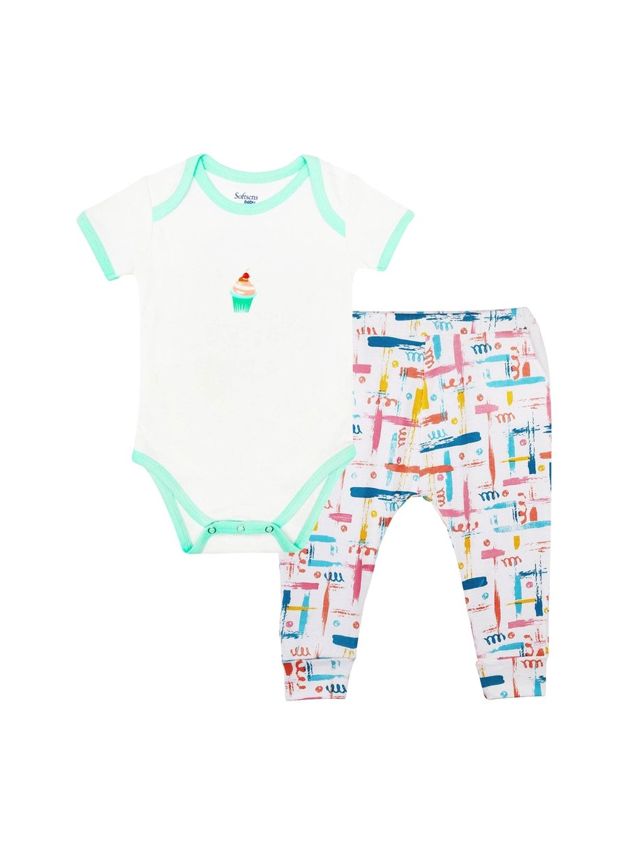 2-Piece Sweet Treat Bodysuit & Knit Pants Set-Baby Clothing-Softsens