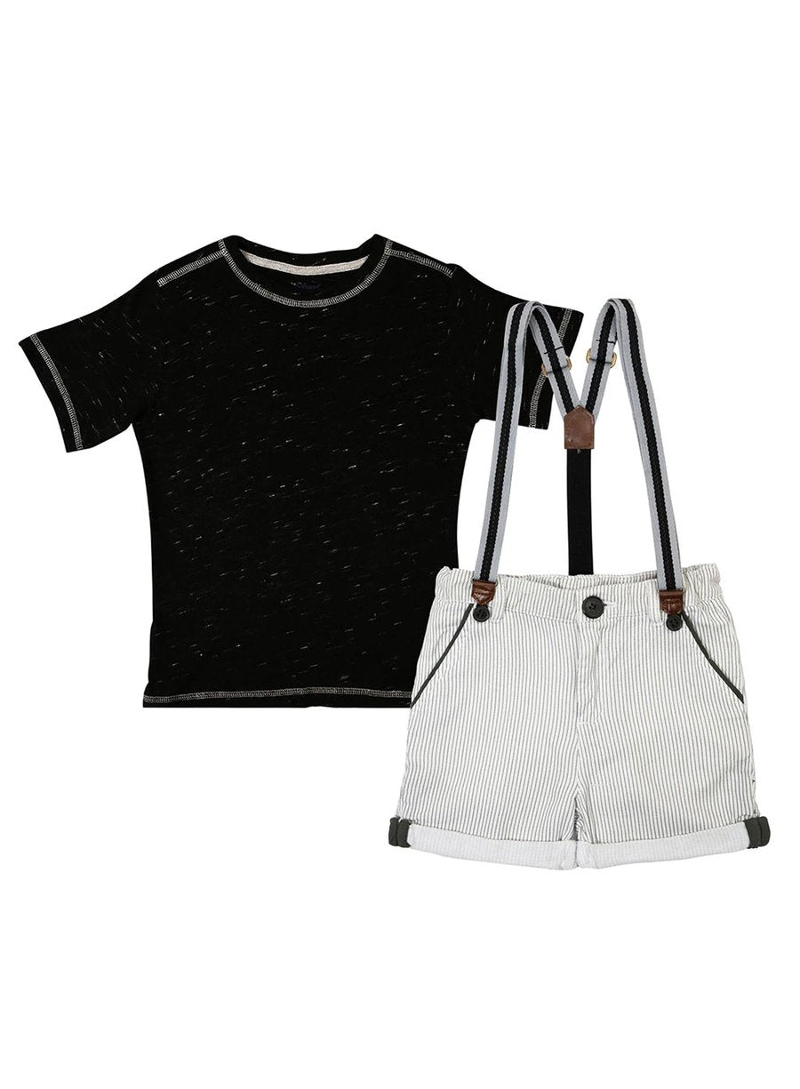 2-Piece Trend Lover T-shirt & Oxford Shorts Set-Kids Clothing-Softsens