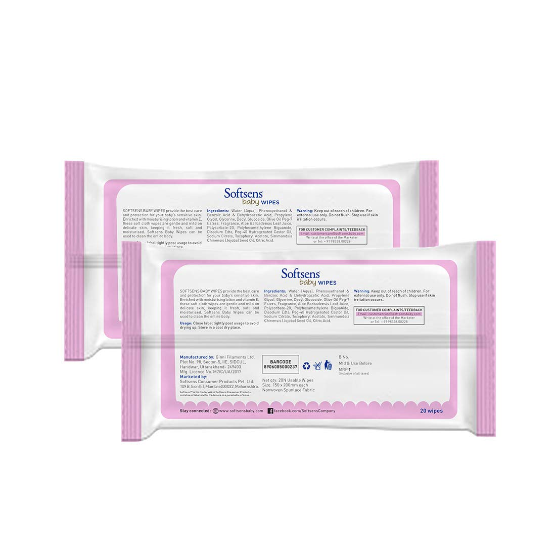 Skin Care Wet Wipes 20's Pack Of 2