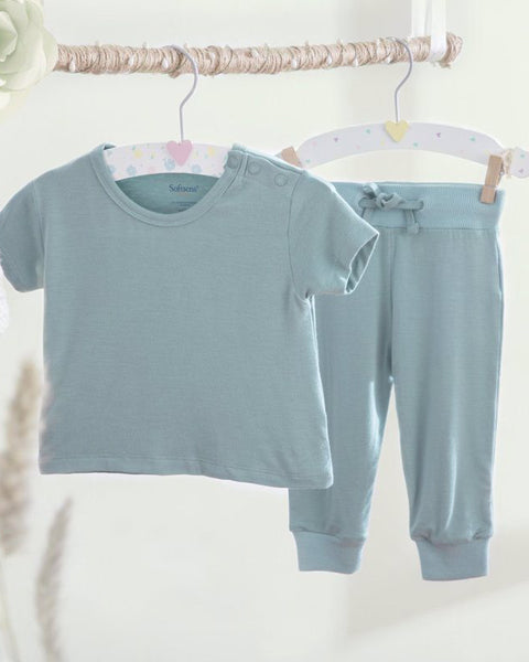 Aquifer Teal Bamboo Top & Bottoms