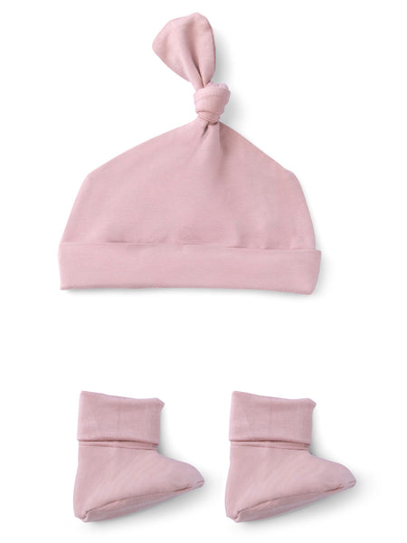 Coral Blush Bamboo Beanie & Booties
