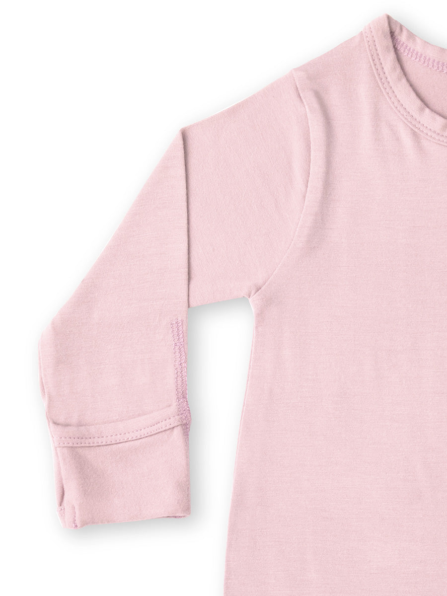 Softsens Coral Blush Long Sleeved Soft Bamboo Stretch Footie