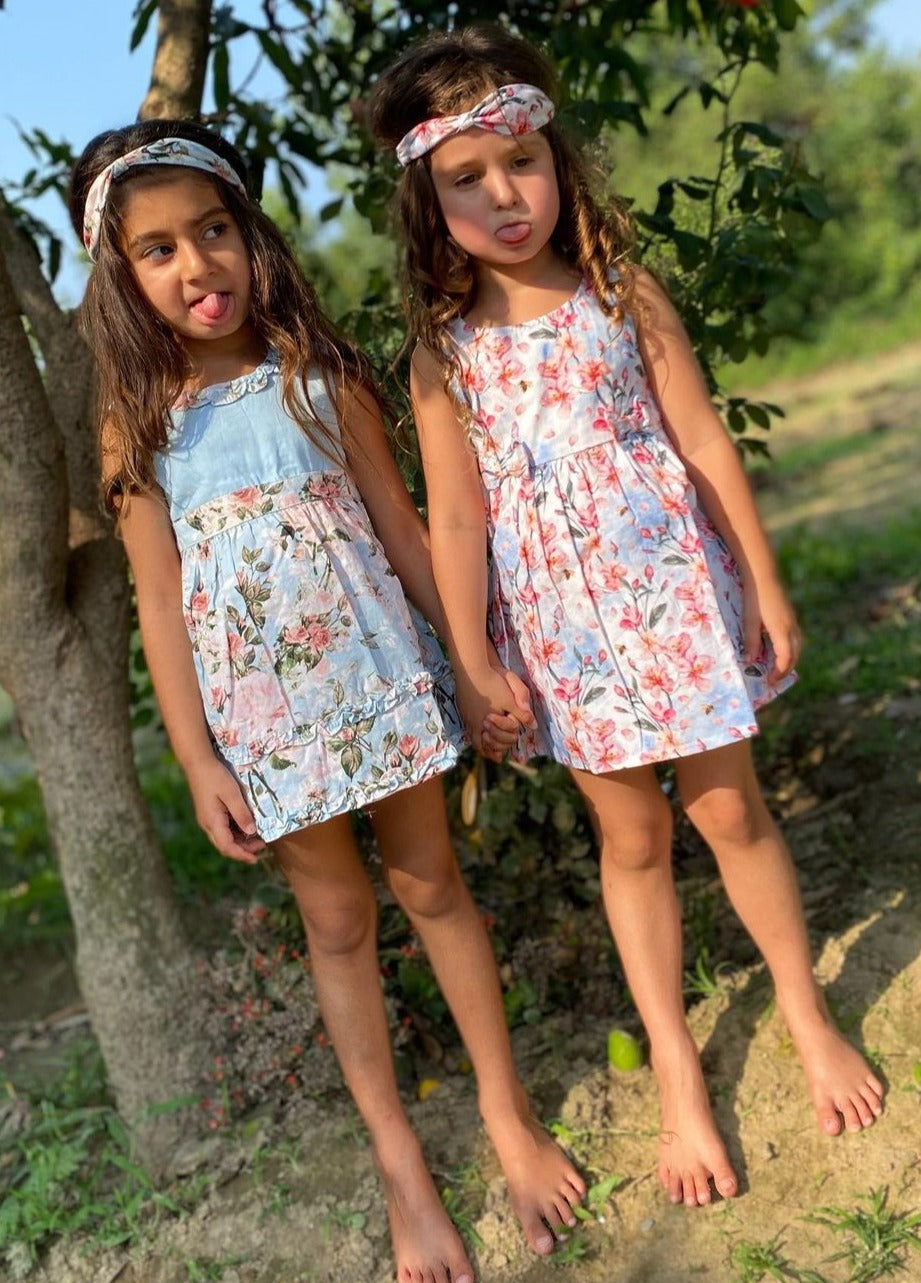 Softsens Floral Magic Pack of 2 Organic Cotton Dresses