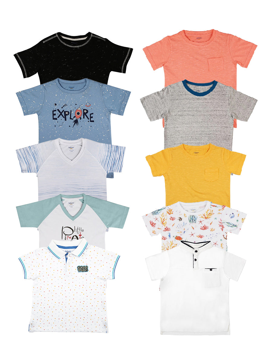 Pack of 10  Soft Jersey Tees