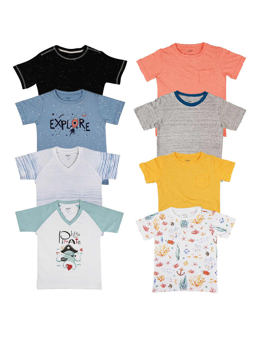 Pack of 8 Soft Jersey Tees