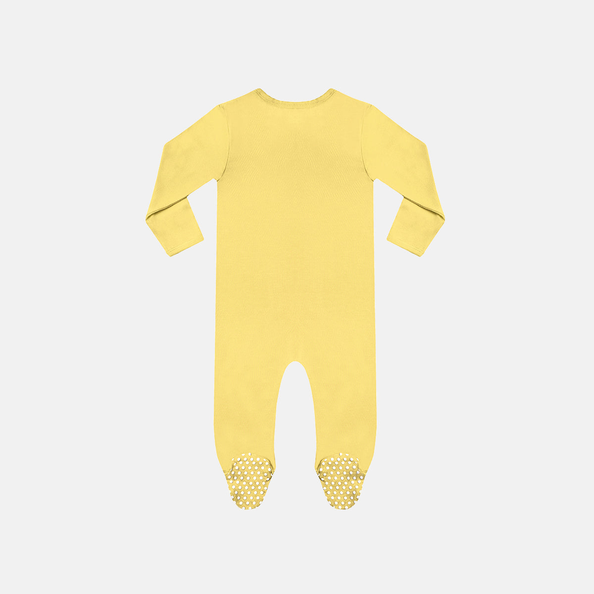 Pineapple Slice Bamboo Zipper Footie