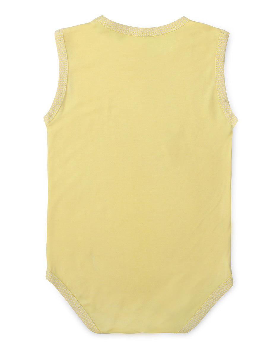 Softsens Pineapple Slice Sleeveless Soft Bamboo Stretch Onesie
