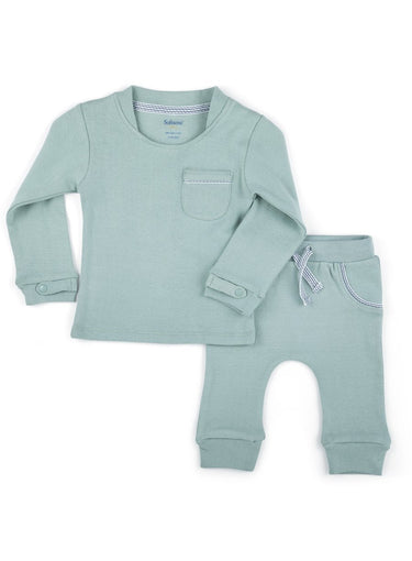 Baby Boy 2 piece carribbean green top and bottom set-Baby Clothing-Softsens
