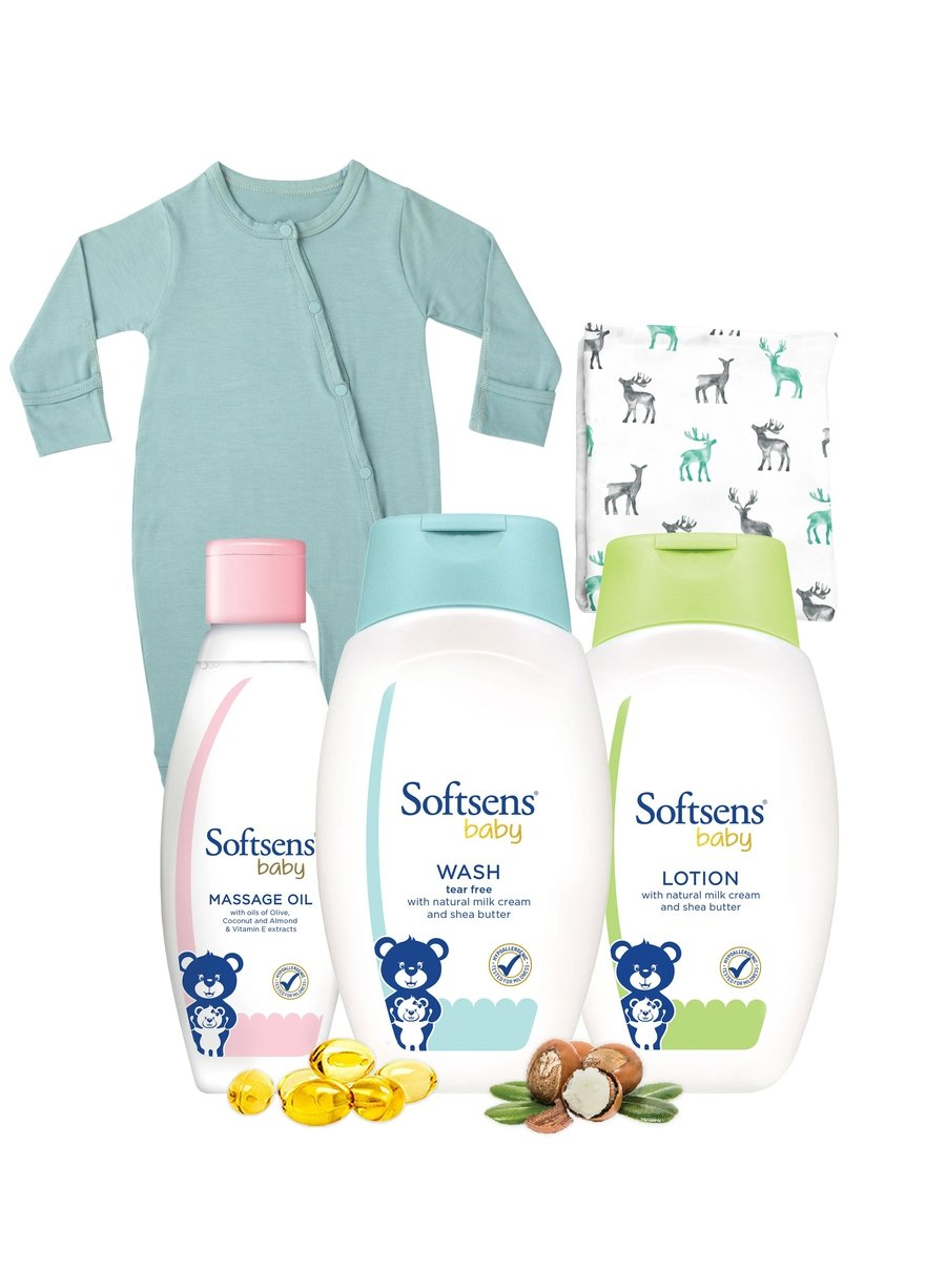 Baby Boy Bedtime Bundle-Bamboo Essentials-Softsens