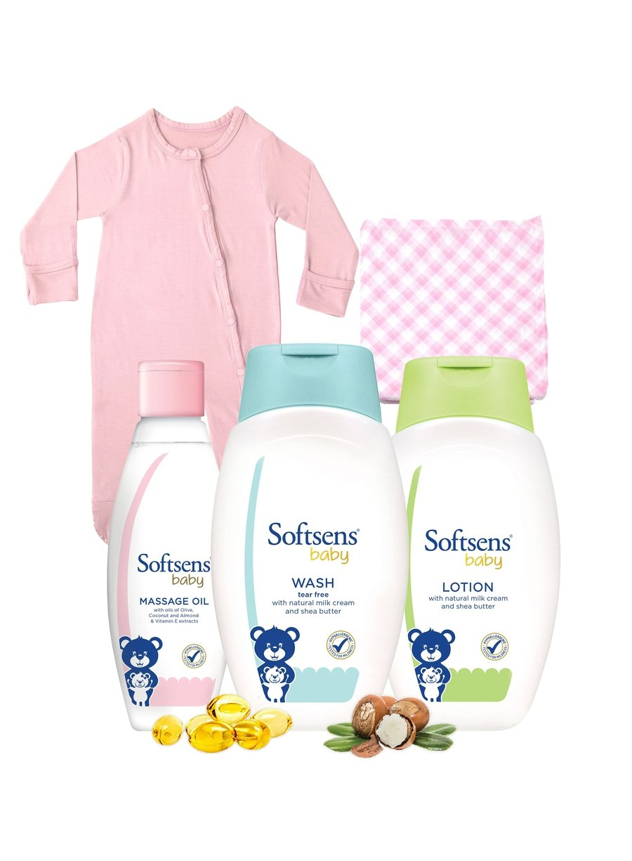Baby Girl Bedtime Bundle-Bamboo Essentials-Softsens