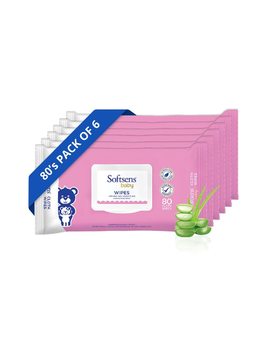 Baby Skin Care Wipes 80'S Pack Of 6
