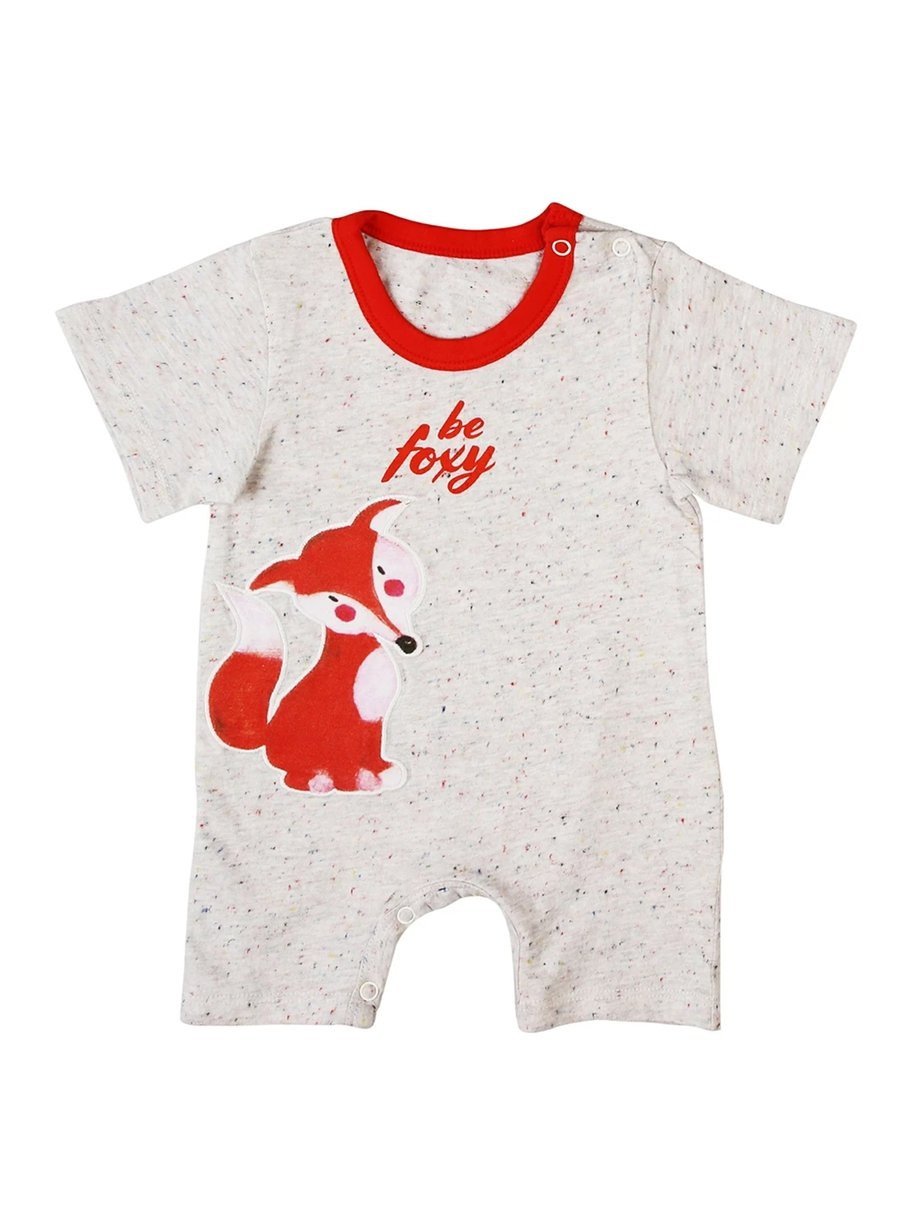 Be Foxy Short Sleeve Soft Jersey Baby Romper-Baby Clothing-Softsens