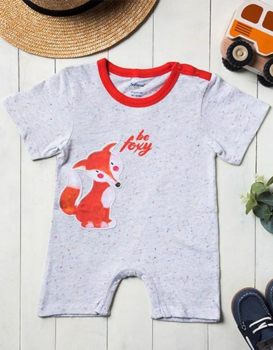 Be Foxy Short Sleeve Soft Jersey Baby Romper