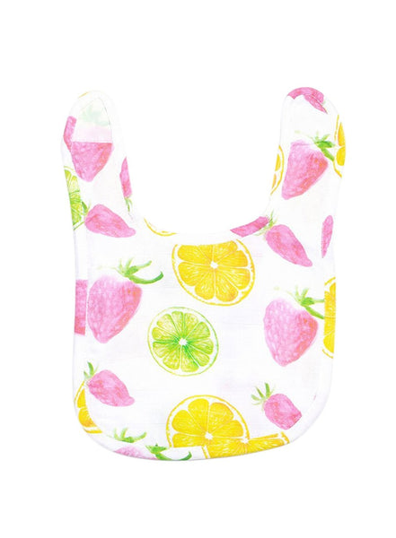 Berry Bliss Organic Muslin Bib-Muslin Essentials-Softsens