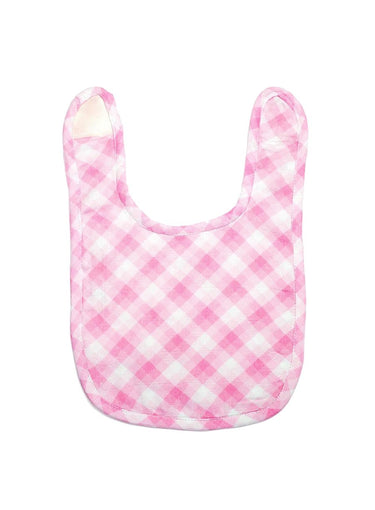 Classic Checks Organic Muslin Bib-Muslin Essentials-Softsens